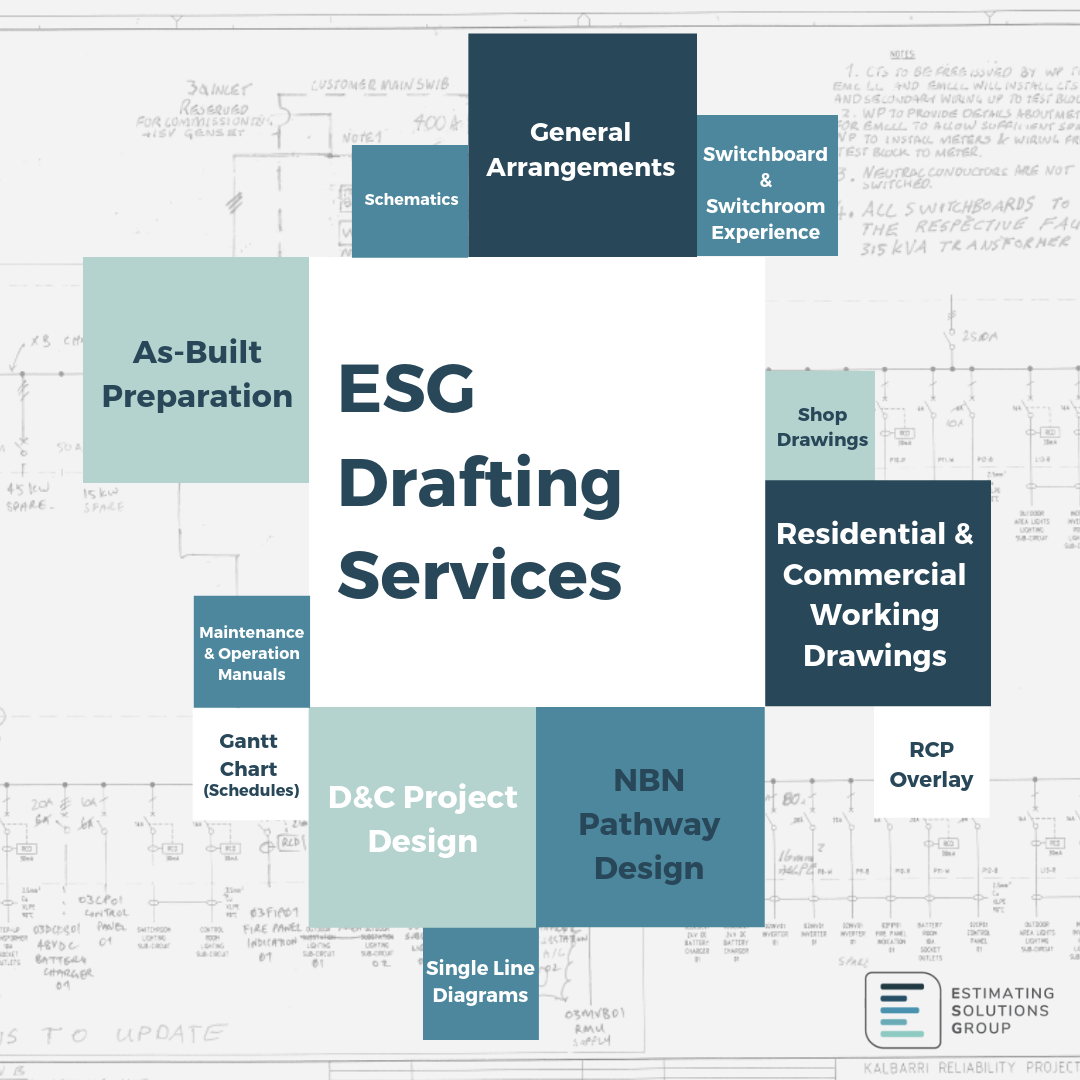 ESG Drafting Services, As-Constructed Drawings, GA, NBN Pathway Design
